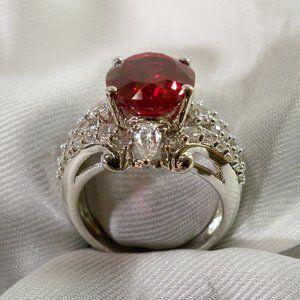 Wieck Ruby ring cz silver 925